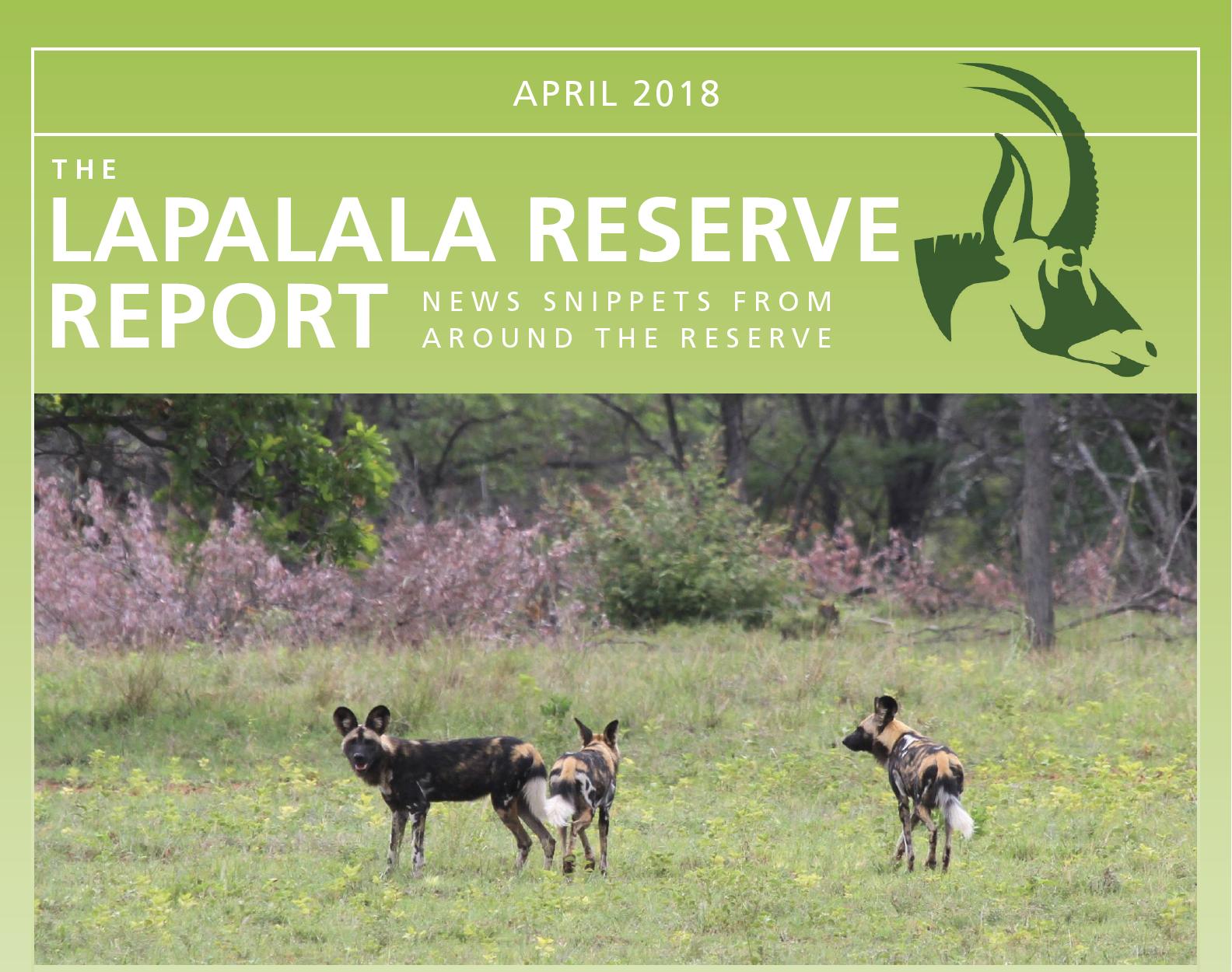 Lapalala Reserve Report – April 2018