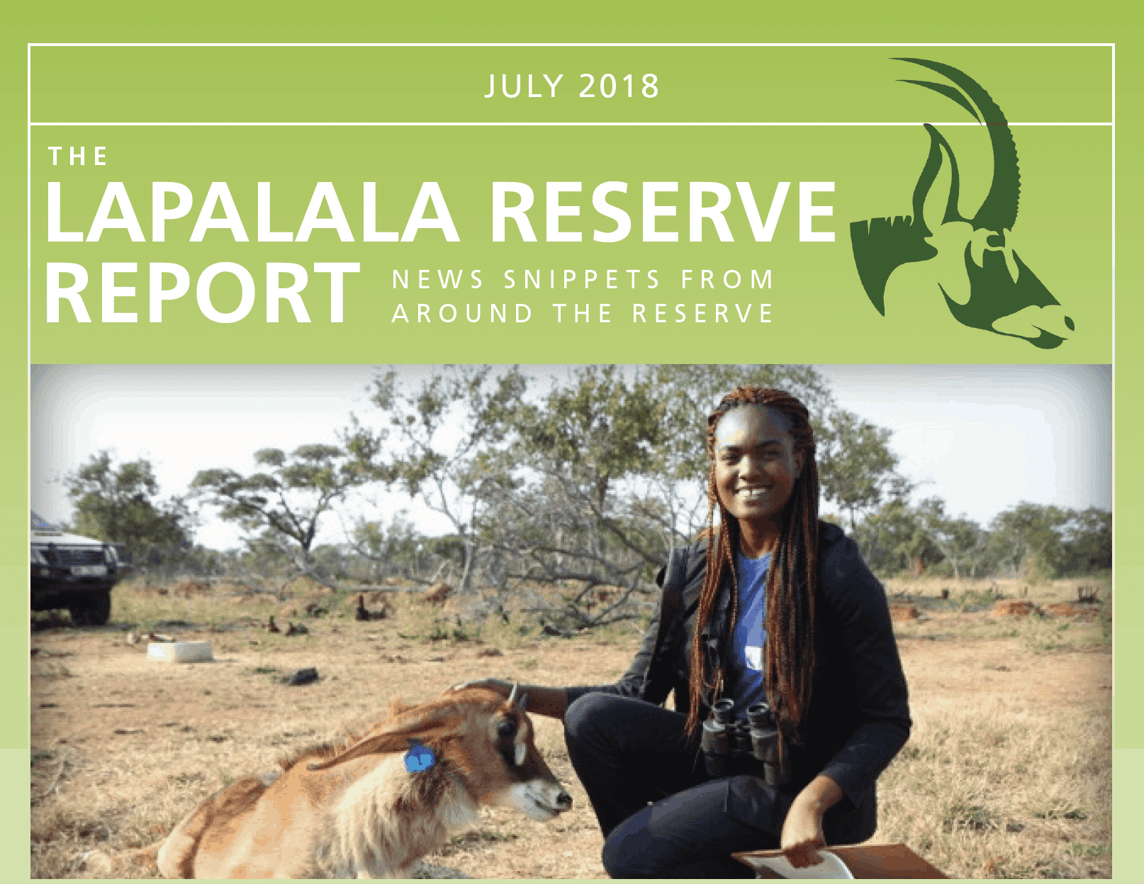 Lapalala Reserve Report – July 2018