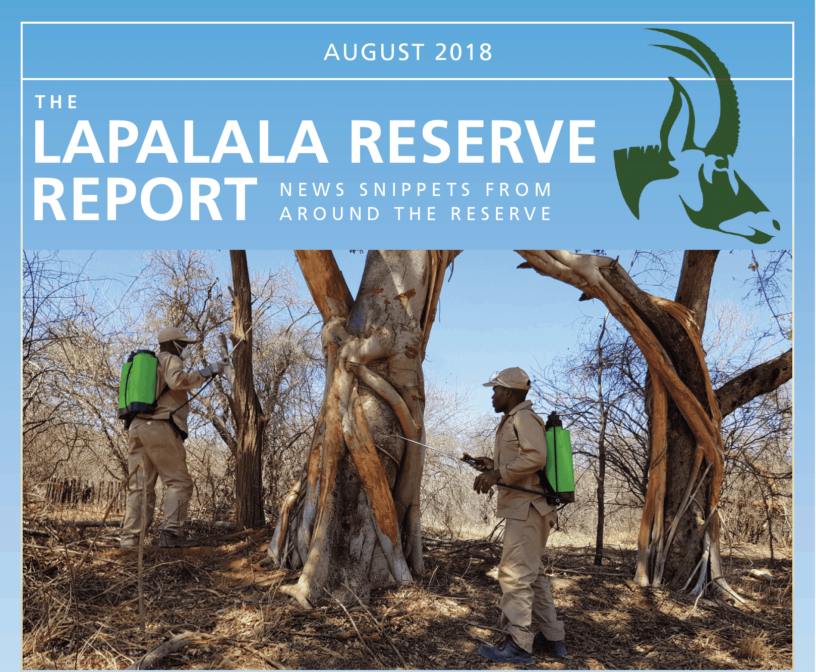 Lapalala Reserve Report – August 2018