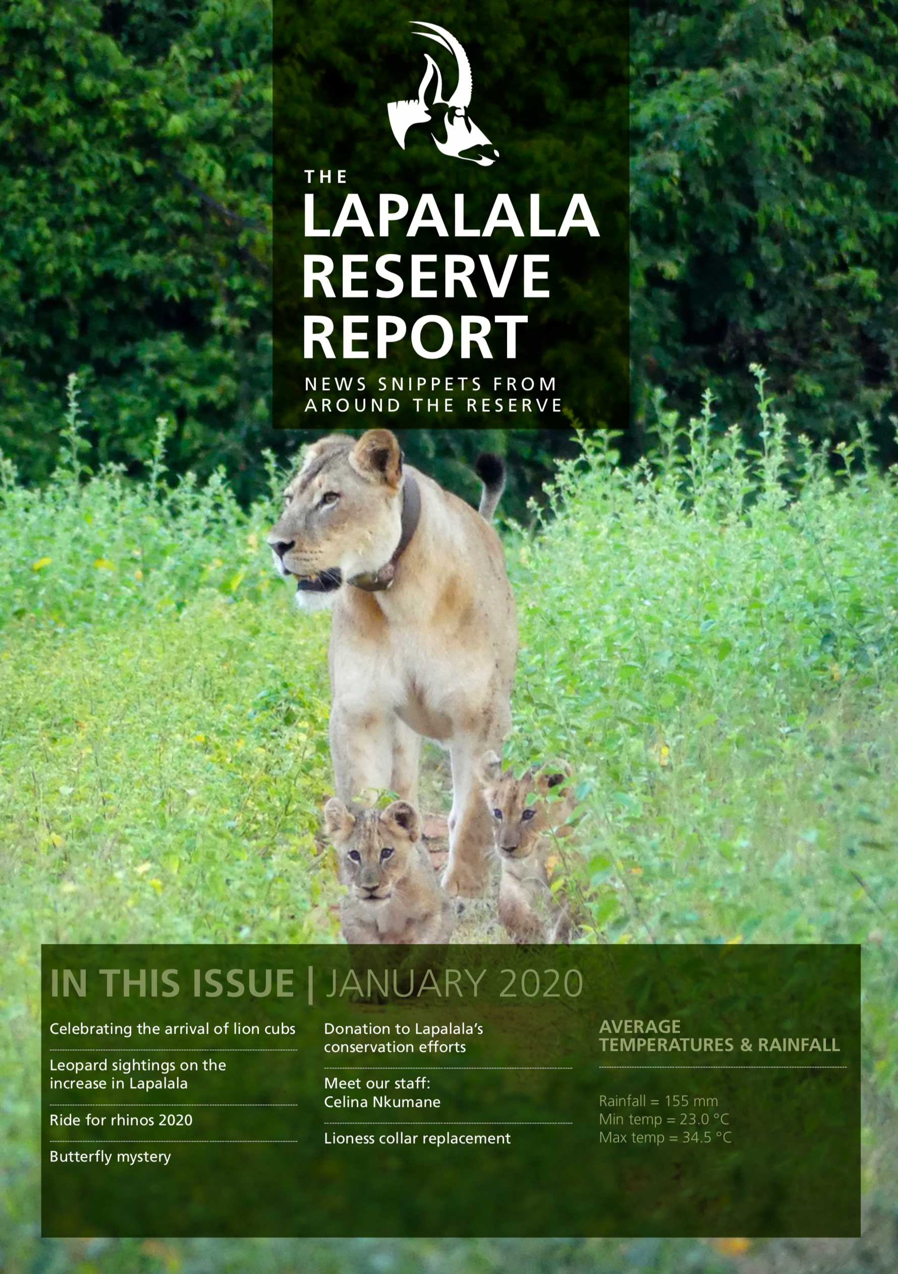 Lapalala Reserve Report – January 2020