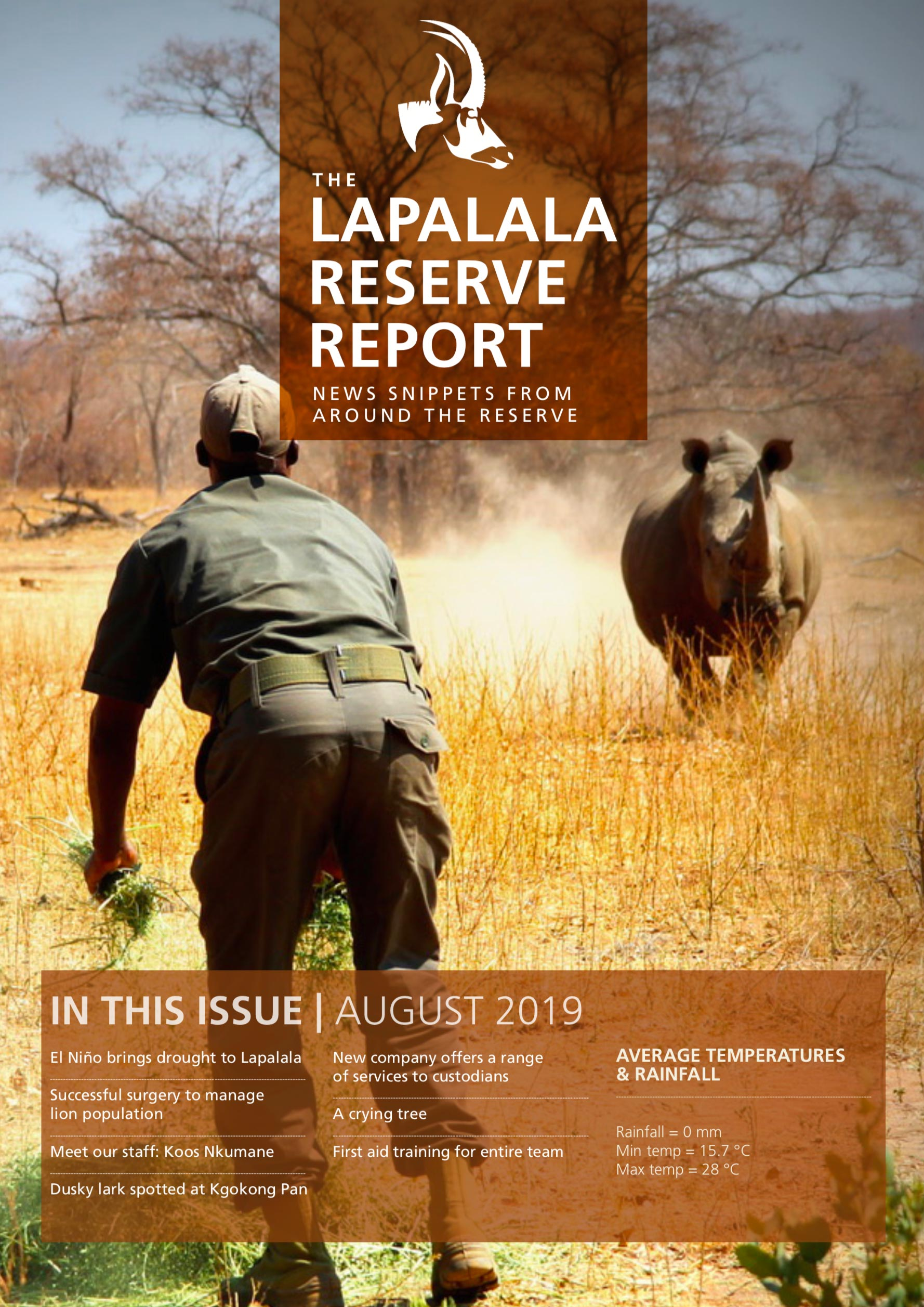 Lapalala Reserve Report – August 2019