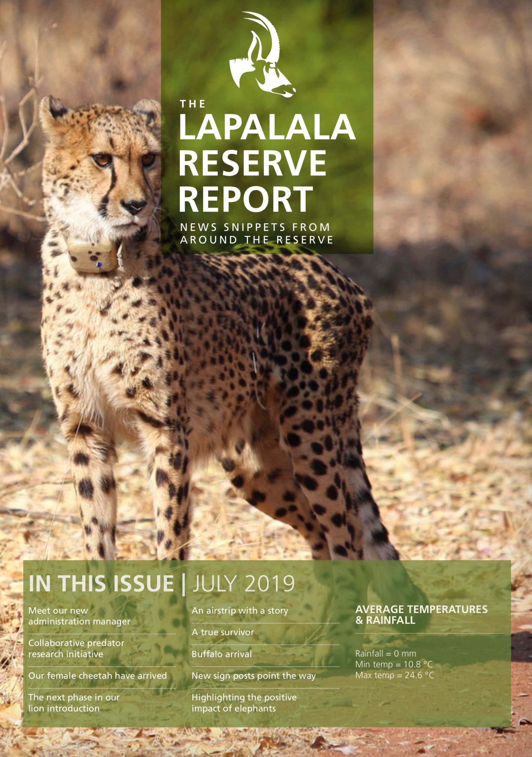 Lapalala Reserve Report – July 2019