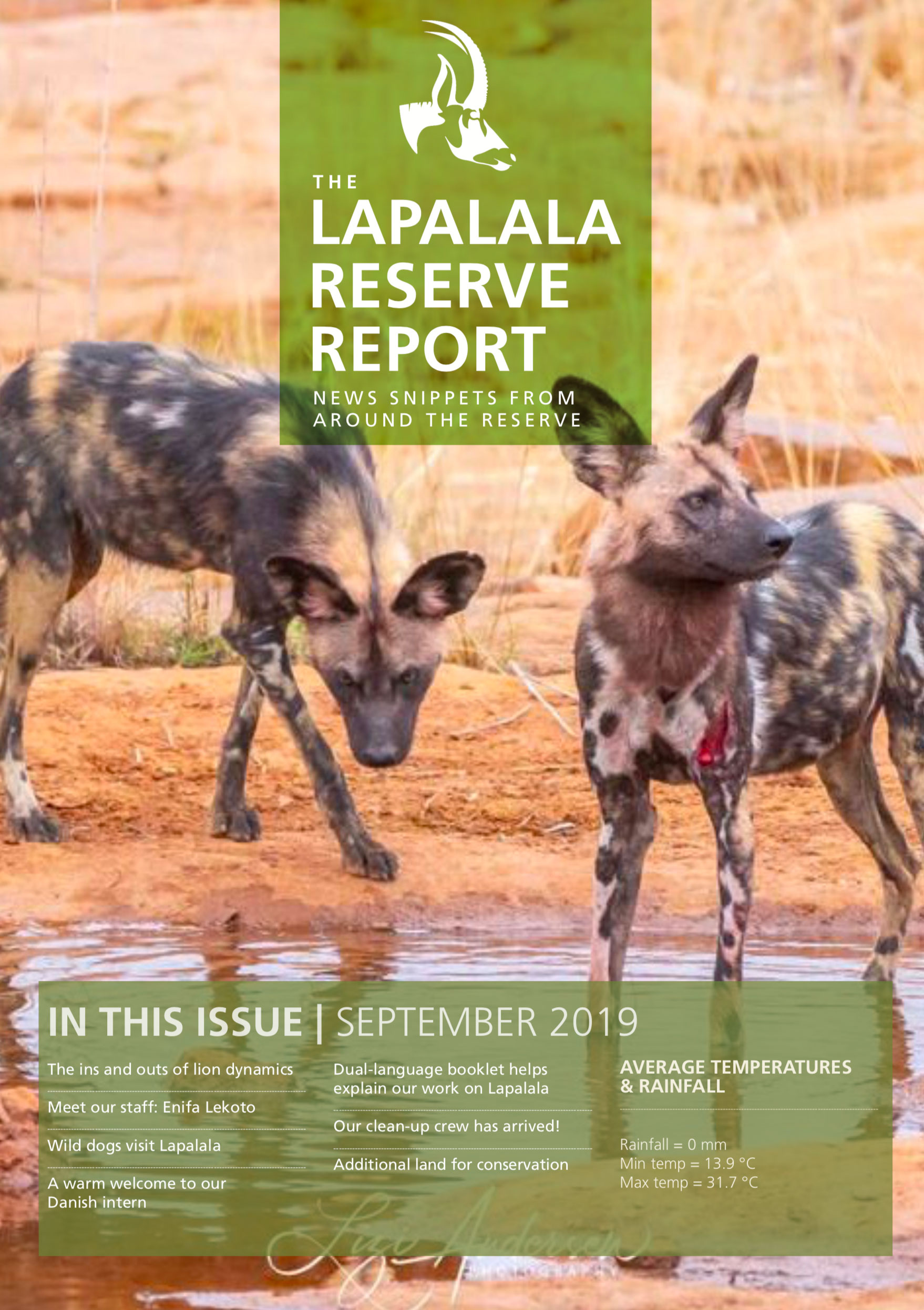 Lapalala Reserve Report – September 2019
