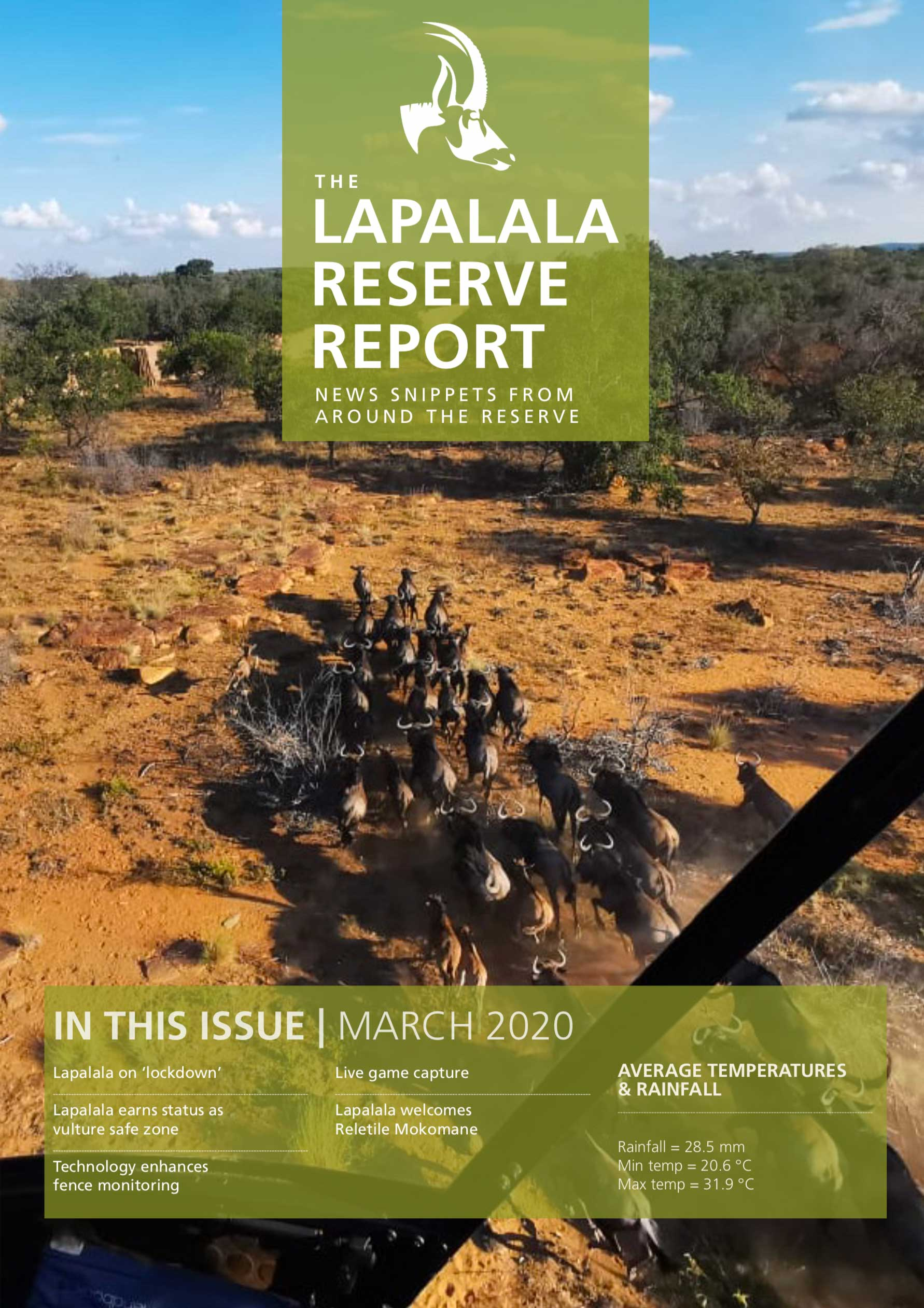 Lapalala Reserve Report – March 2020