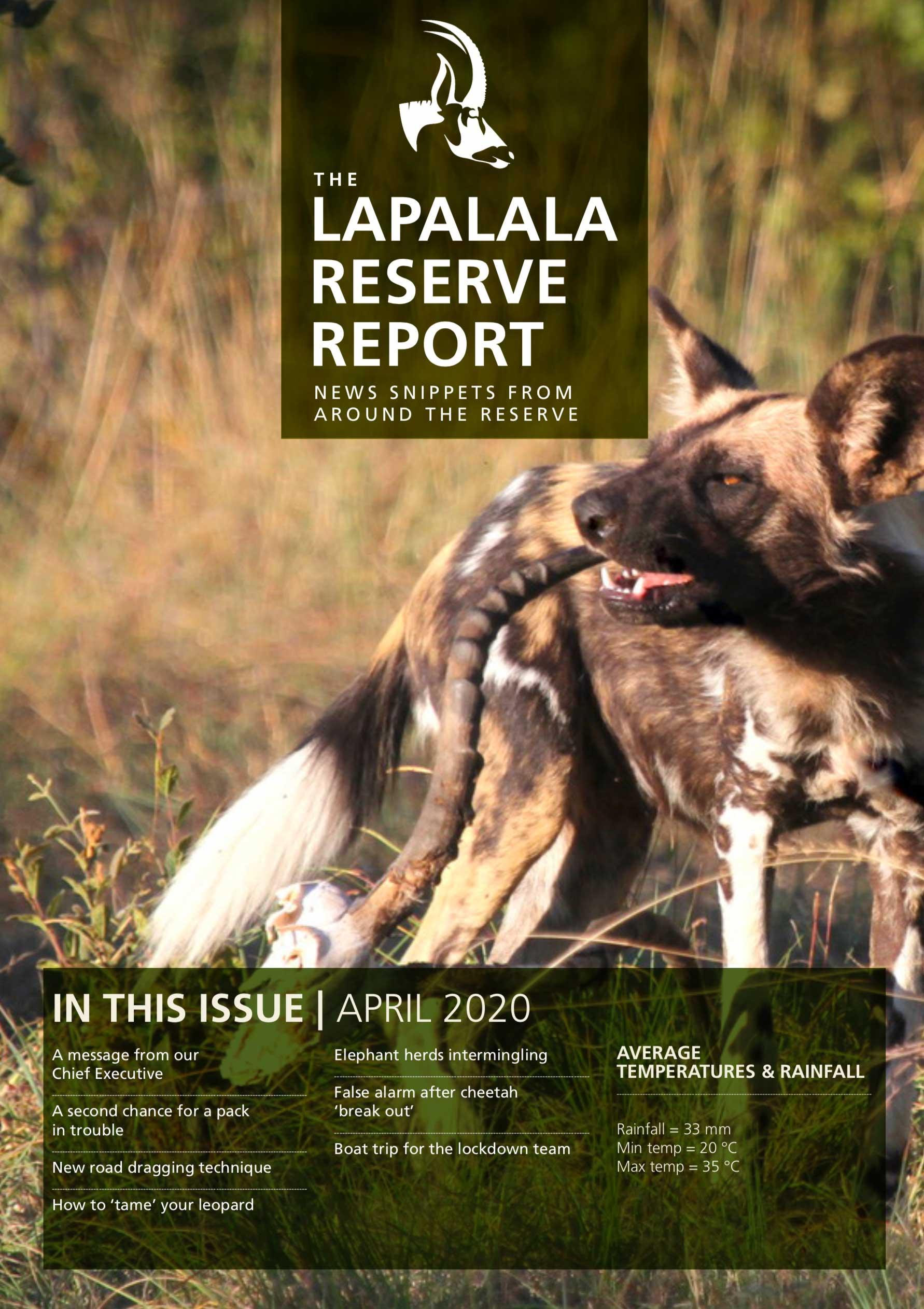 Lapalala Reserve Report – April 2020