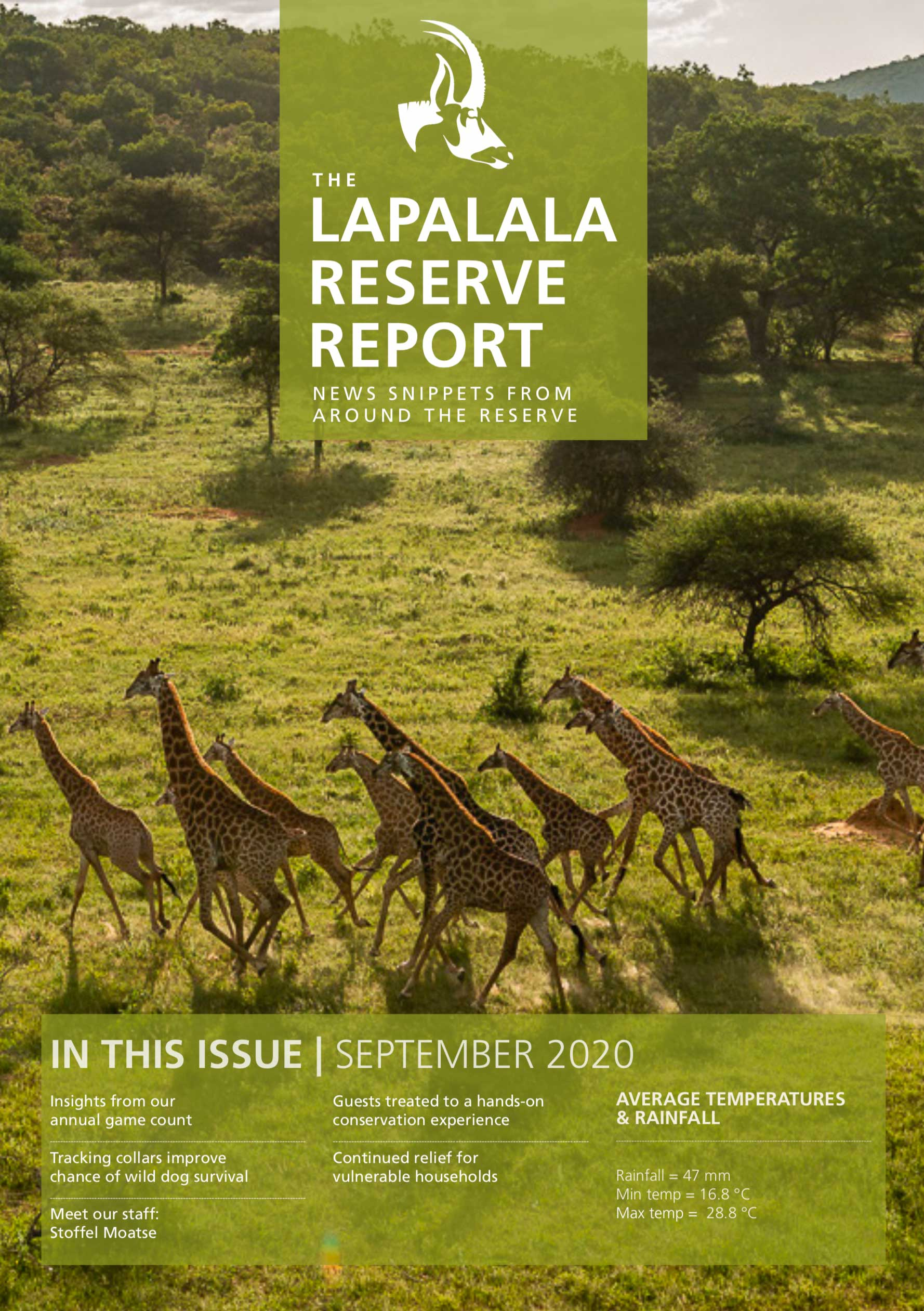 Lapalala Reserve Report – September 2020